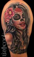 dia de los muertos tattoo by LizCookTattoo