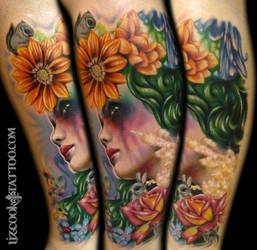 Liz Cook Tattoo Full Mother Nature by LizCookTattoo