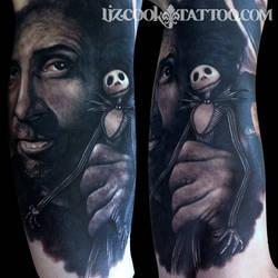 Tim Burton/Jack Skellington by LizCookTattoo