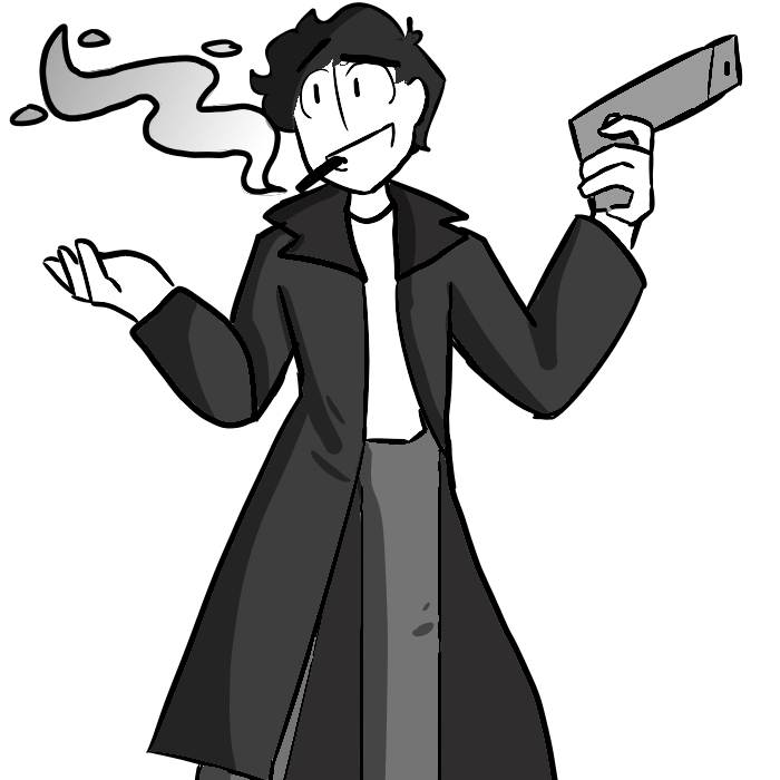 Crazy Psycho Trench Coat Kid by pipa00