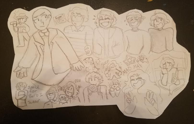 Stranger Things Doodle Page by pipa00