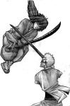 Kenshin versus Enishi by Hitokiri-club