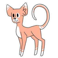 creamsicle cat adoptable (closed) by hesitantHeroine