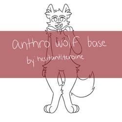 Anthro Wolf P2U Base by hesitantHeroine