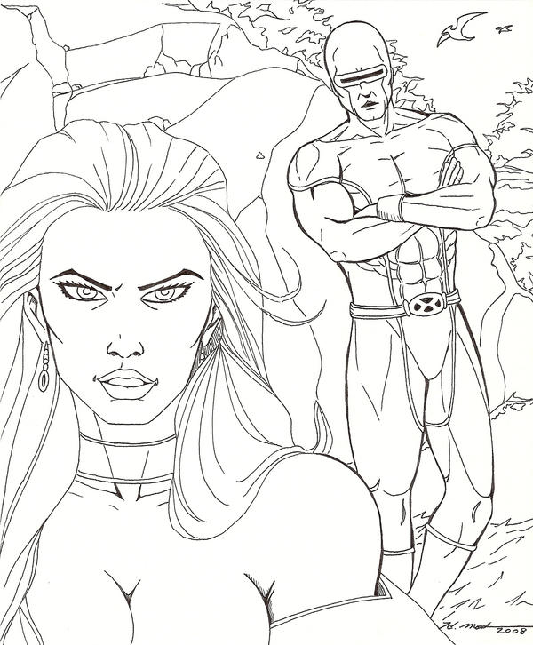 X Men Cyclops And Emma Frost X-Men Cyclops a...