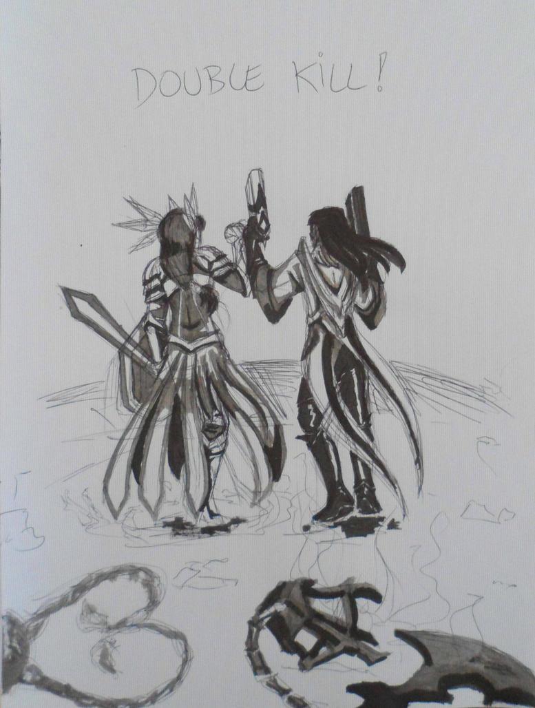 Double Kill by clau-wolfy