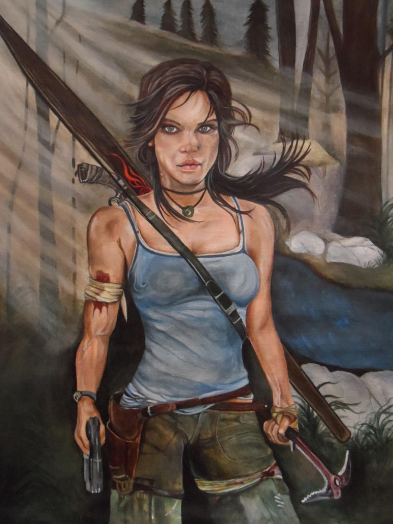 Lara Croft Tomb Raider (Acrylic Paint) by Launadoon