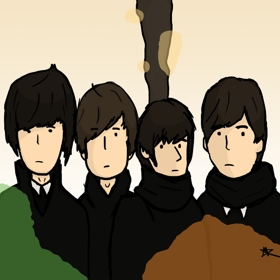 The Beatles For Sale Album Cover by Sketch-Zilla