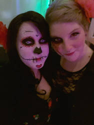 sugar skull and dead girl