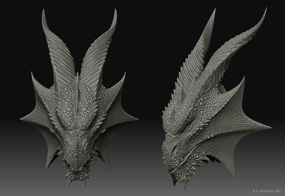 Dragon Head 3D Model By Deligaris