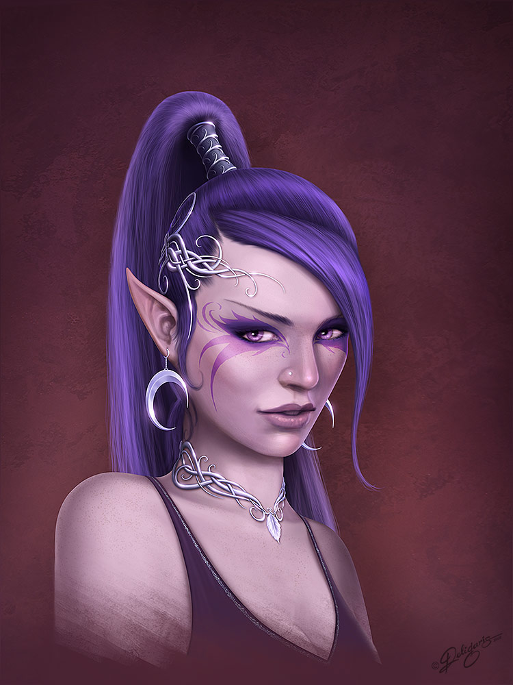 Elf portrait by Deligaris