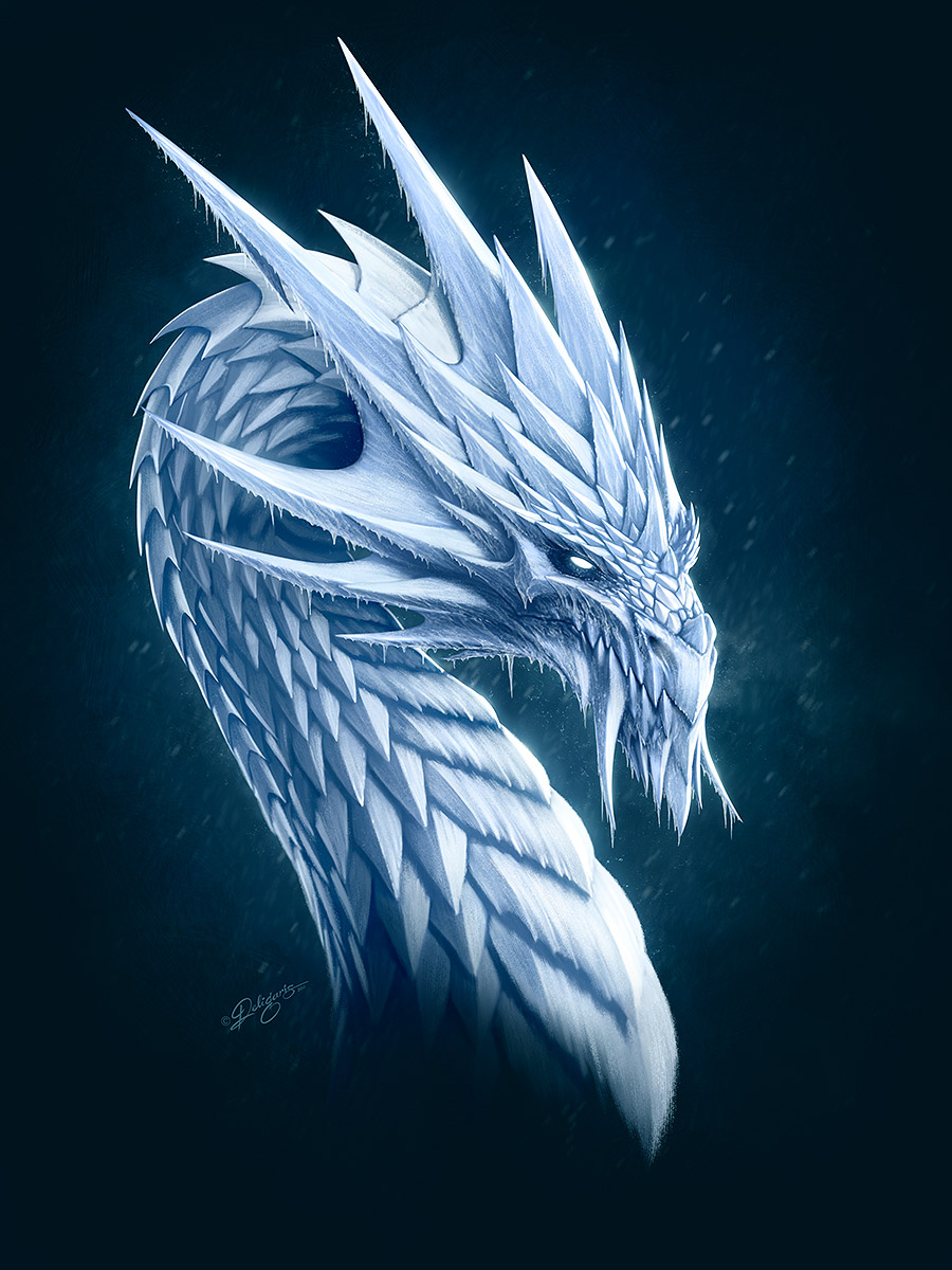 Ice Dragon By Deligaris On Deviantart