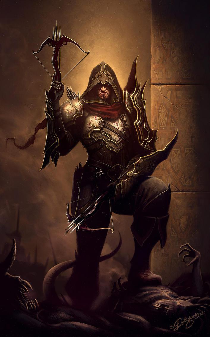 Demon Hunter - Diablo fan art by Deligaris