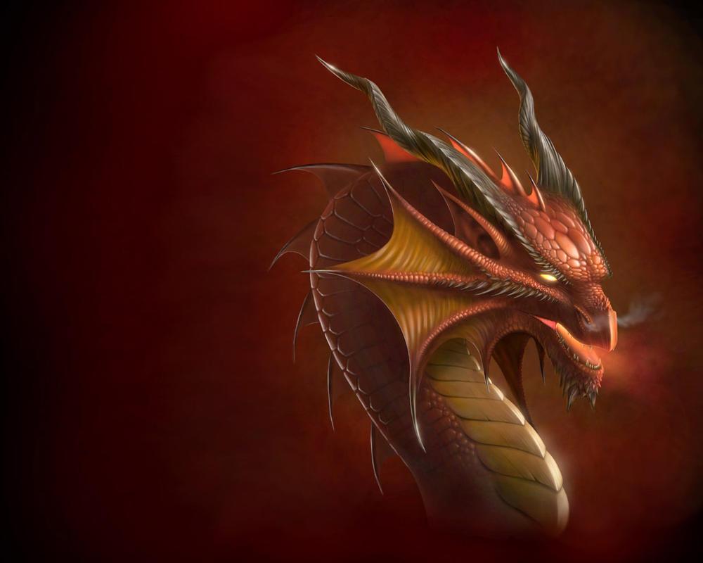 Dragon head Wallpaper by Deligaris