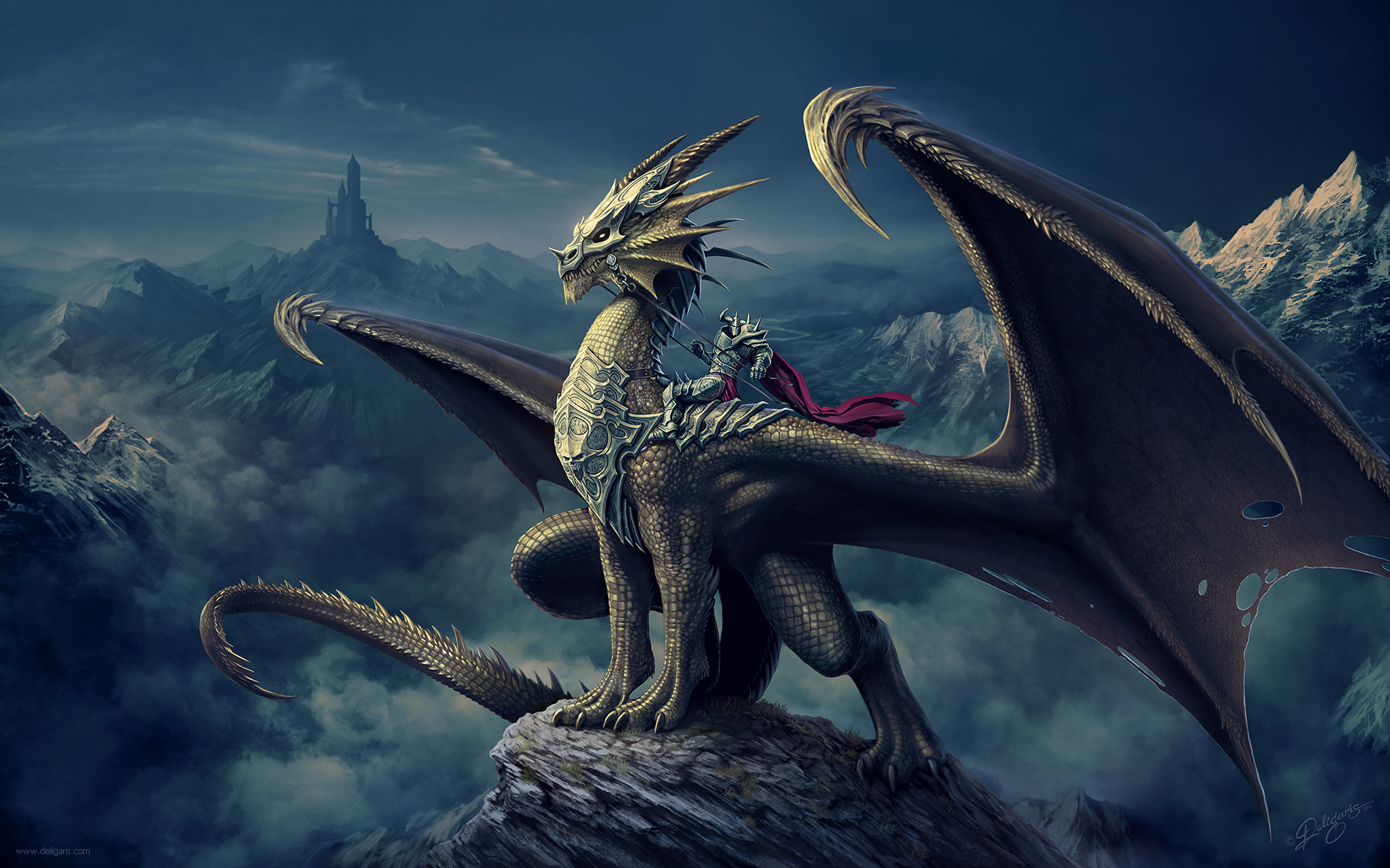 Dragon Rider by Deligaris