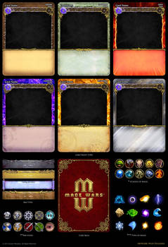 Mage Wars - card assets by Deligaris