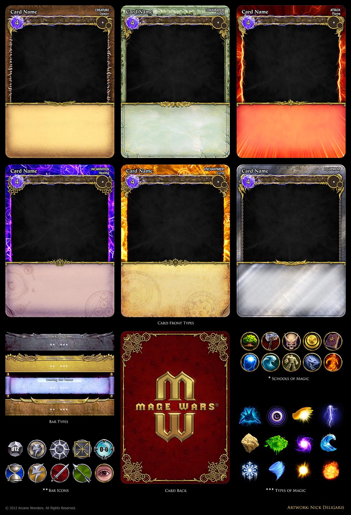 Mage Wars - card assets