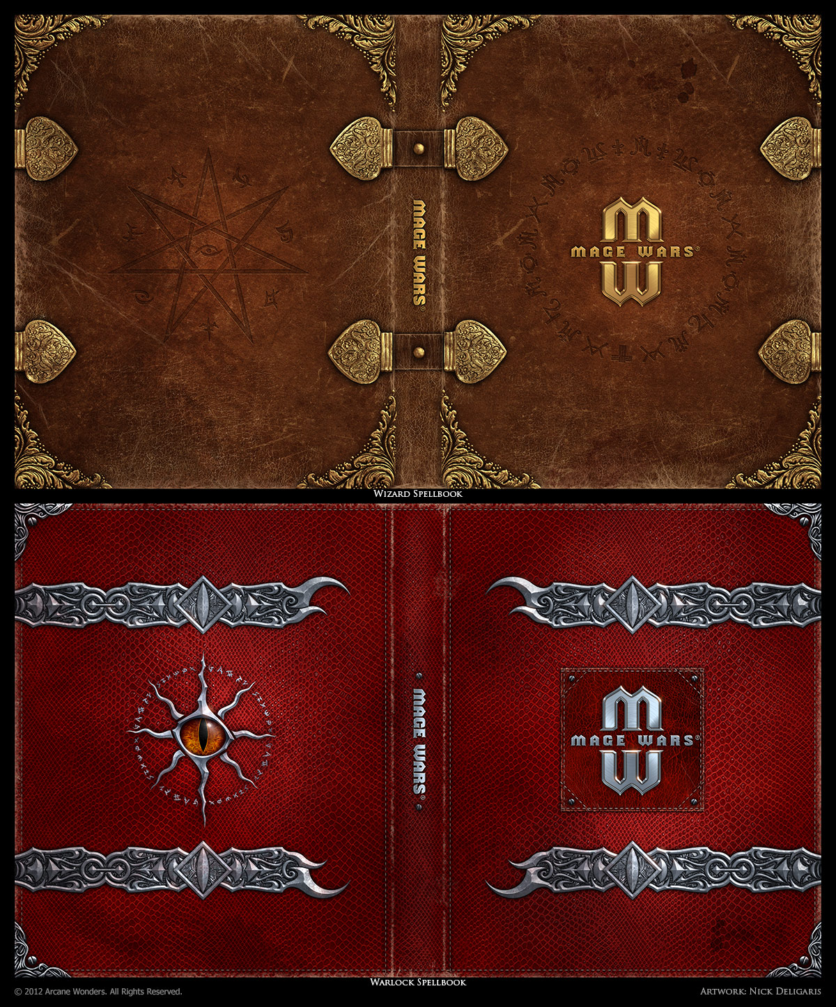 Spelling Book Cover Template : Mage wars spell book sleeves set by deligaris on