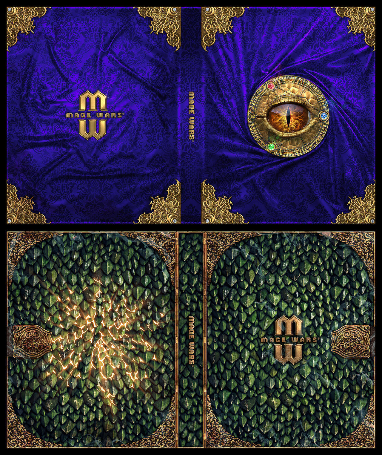 Mage Wars Spell Book Sleeves Set 4 By Deligaris On
