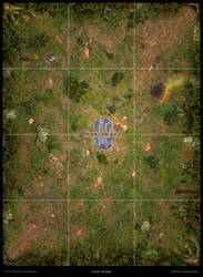 Mage Wars - Arena game board: Forest theme