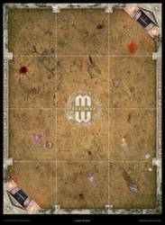 Mage Wars - Arena game board: Selenia (Anc. Greek)