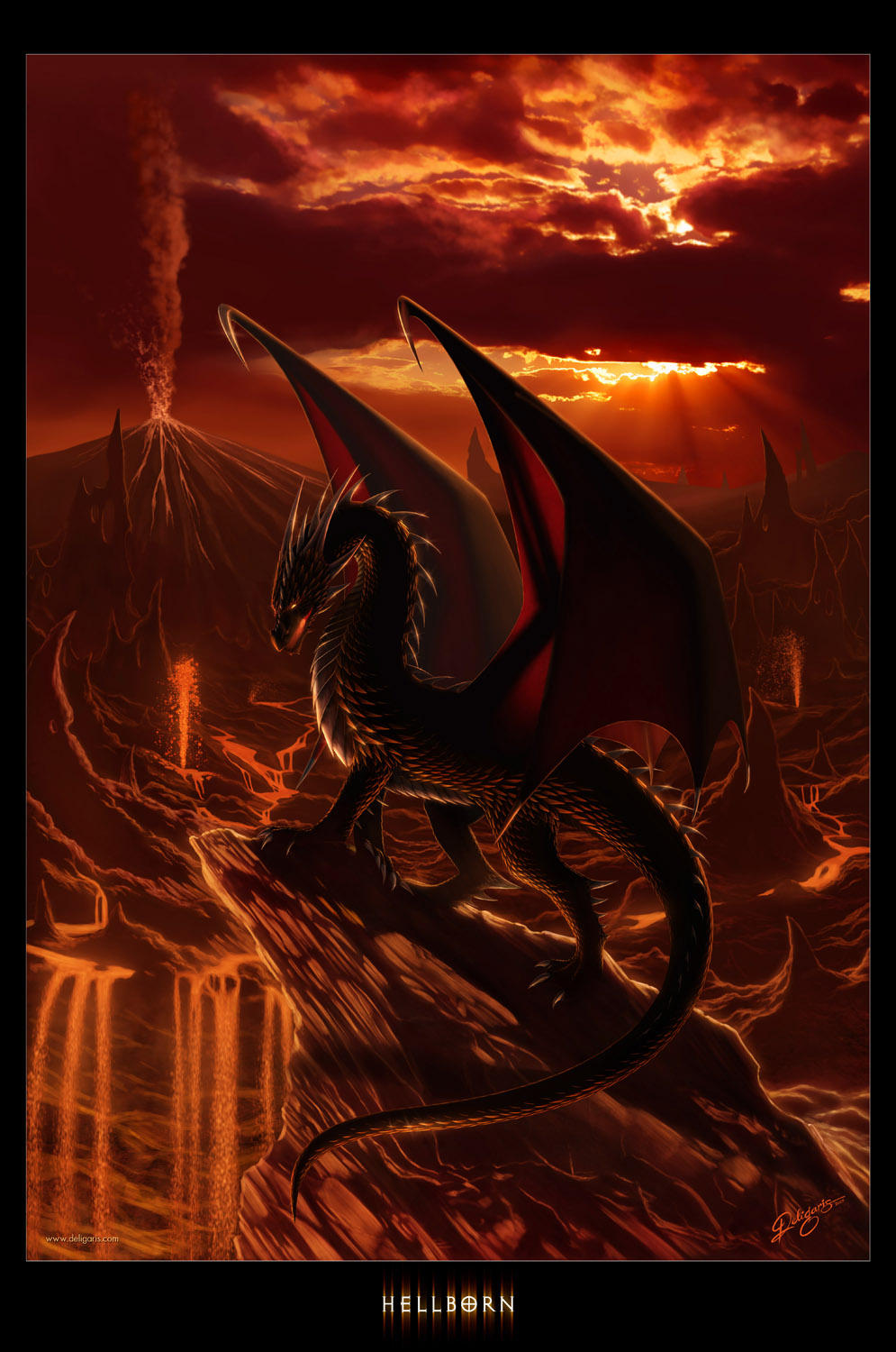 Hellborn dans Dragons Hellborn_by_deligaris