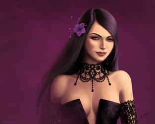 Violet-Black wallpaper by Deligaris