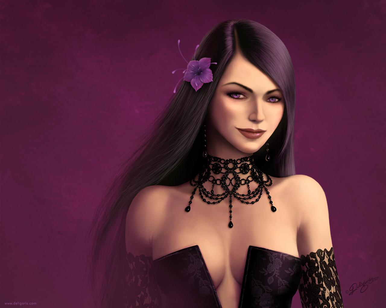 Violet-Black wallpaper