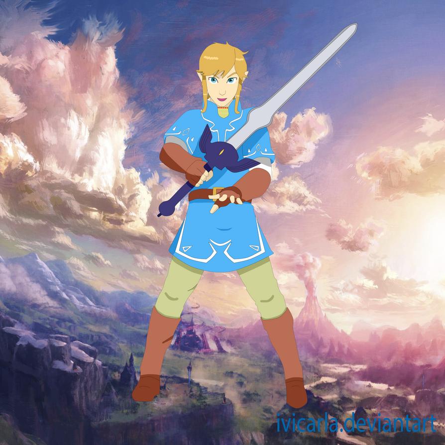 Zelda Breath Of The Wild Link Fan Art By Ivicarla On