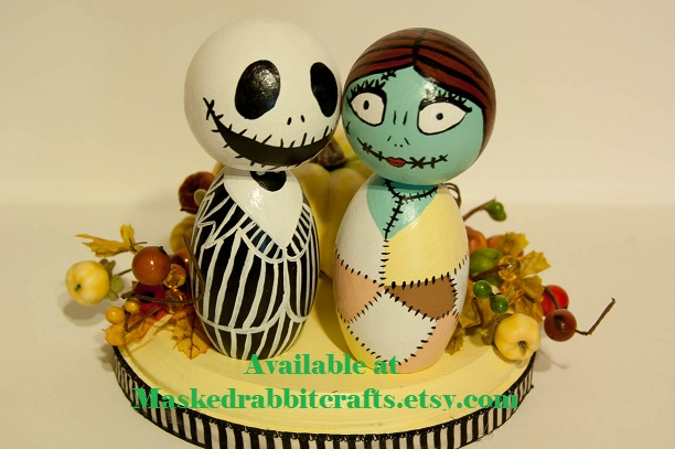 jack skellington and sally wedding cake topper and sally cake topper by maskedrabbitcrafts on deviantart 16564