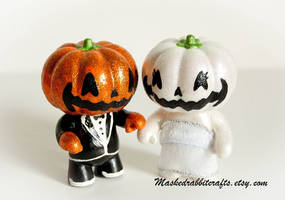 Halloween Jack O Lanterns by maskedrabbitcrafts