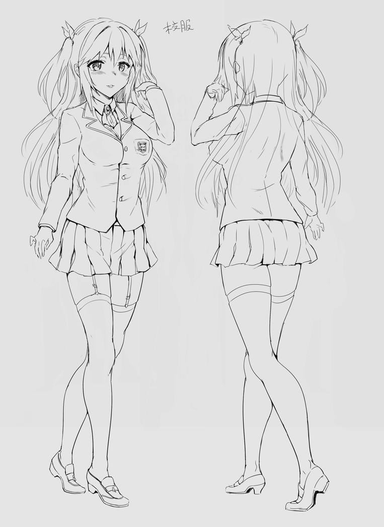 Work Character Design - Sakura 1 by yo-chaosangel