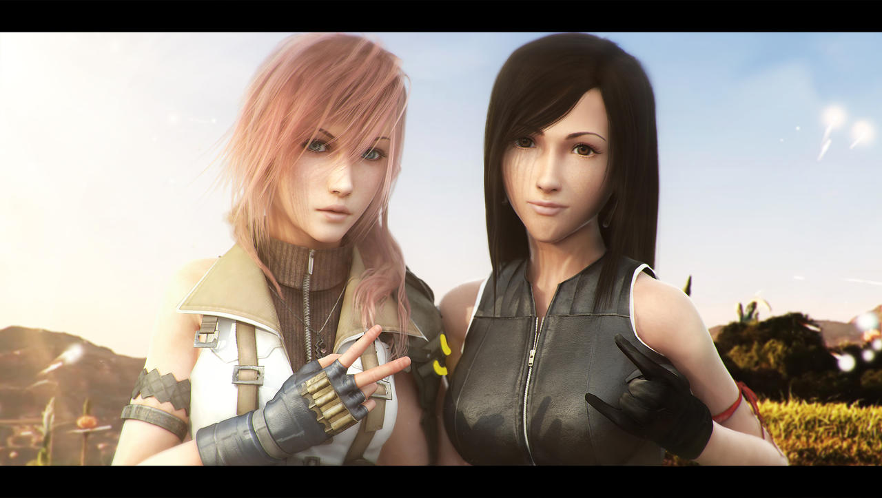 Tifa and Lightning friendship by AnubisDHL