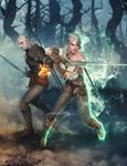 Commission: Geralt and Ciri