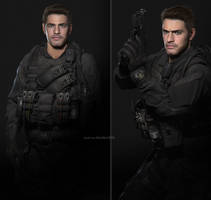 Chris Redfield fan made by AnubisDHL