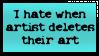 People please, don't delete your art by KidvsKatAdmirer2