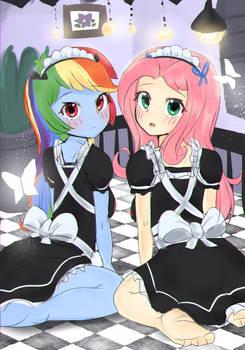 [MLP EQG] Rainbow Dash and Flutter Shy