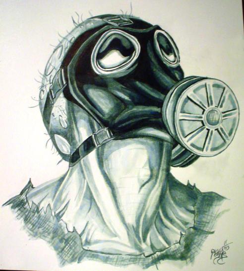 Evil Gas Mask Evil hid...