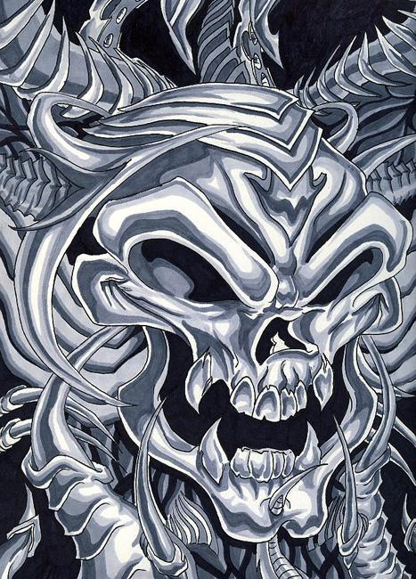 Evil dark skull bio by john2dope on DeviantArt
