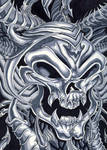 Evil dark skull bio