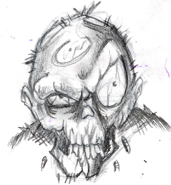 Zombie Sketch By John2dope On Deviantart