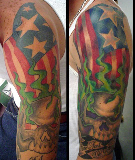 oldand refreshed - sleeve tattoo