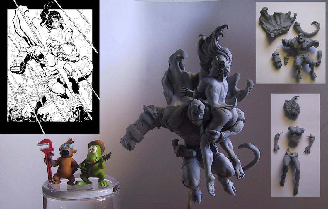 Hellboy_Frank_Cho_statue_ by skinnydevil