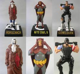 WATCHMEN figures by skinnydevil