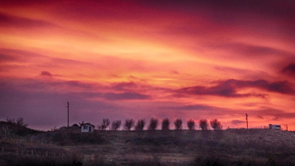 sunset by burnchild