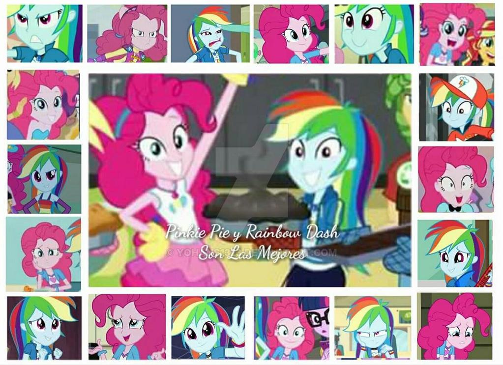 Collage para Pinkie Pie y Rainbow Dash