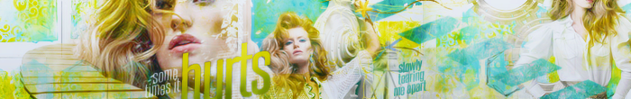 Sometimes it Hurts Banner by elloooise