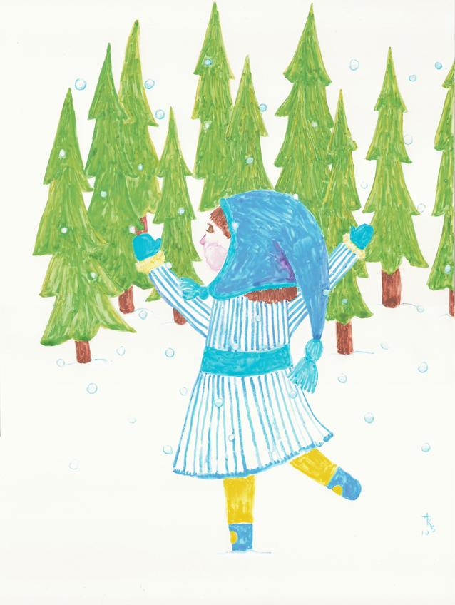 Snowing by lunavalse
