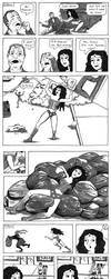Wonder Woman has a bad day by lunavalse