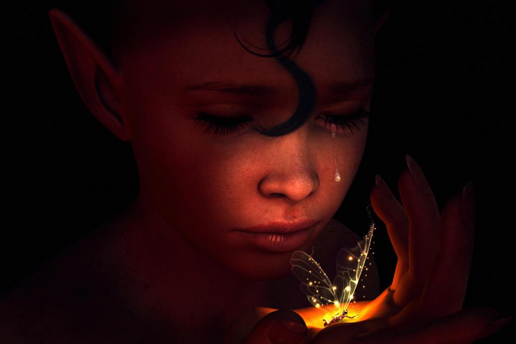 Death of a pixie by IamUman